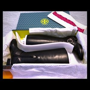 TORY BURCH SOFIA BUCKLED RIDING BOOT.